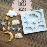 LUCKY FINGER STAR/MOON MOULD