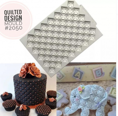 QUILTED DESIGN MOULD SMALL