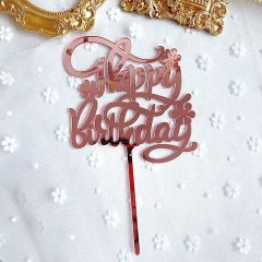 HAPPY BIRTHDAY TOPPER (ROSEGOLD)