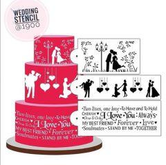 WEDDING SILHOUETTE STENCIL